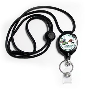 Sidekick Badge/Key Retractor w/Adjustable Lanyard