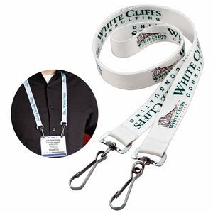 "Dye Sublimated Twist Free Lanyard (3/4"")"