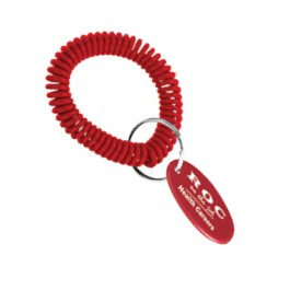 Wrist Coil Key Ring w/Oval Key Tag